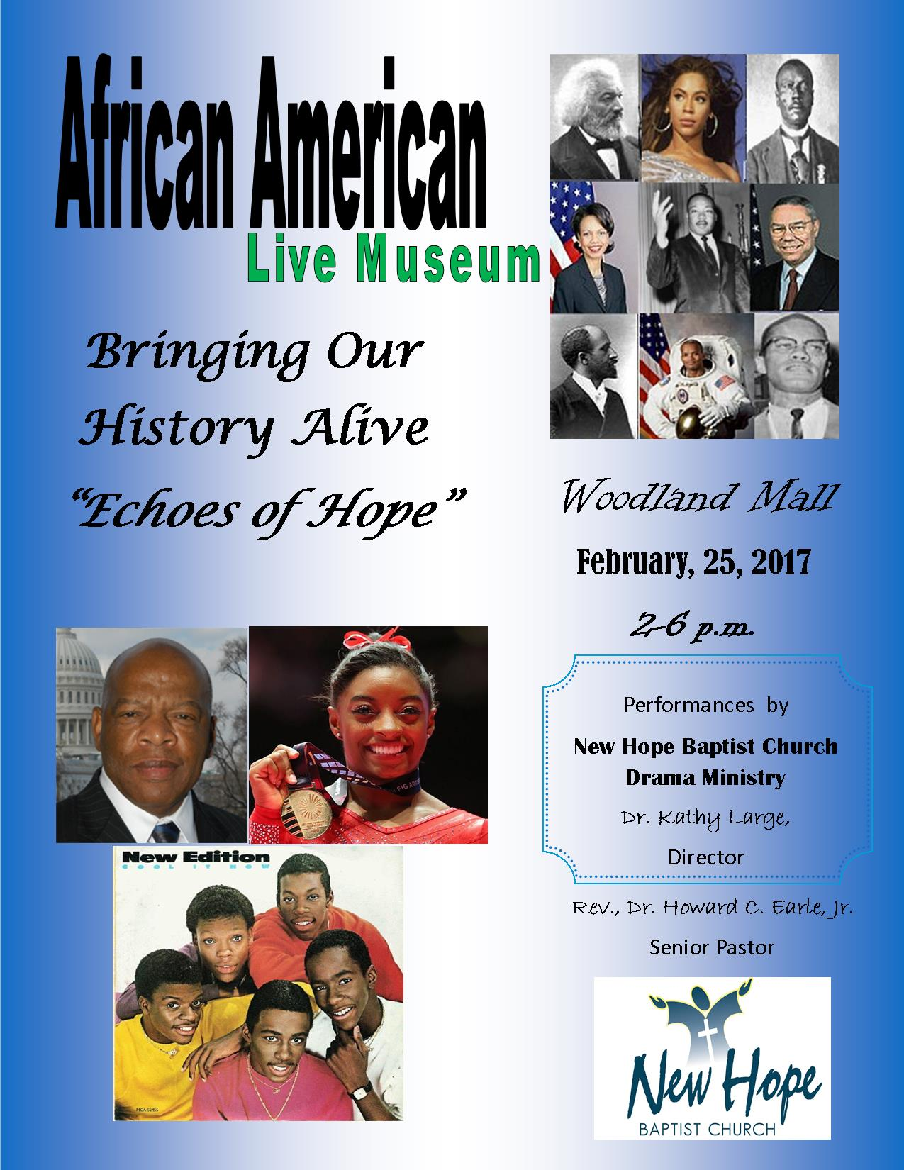 African American Live Museum Flyer