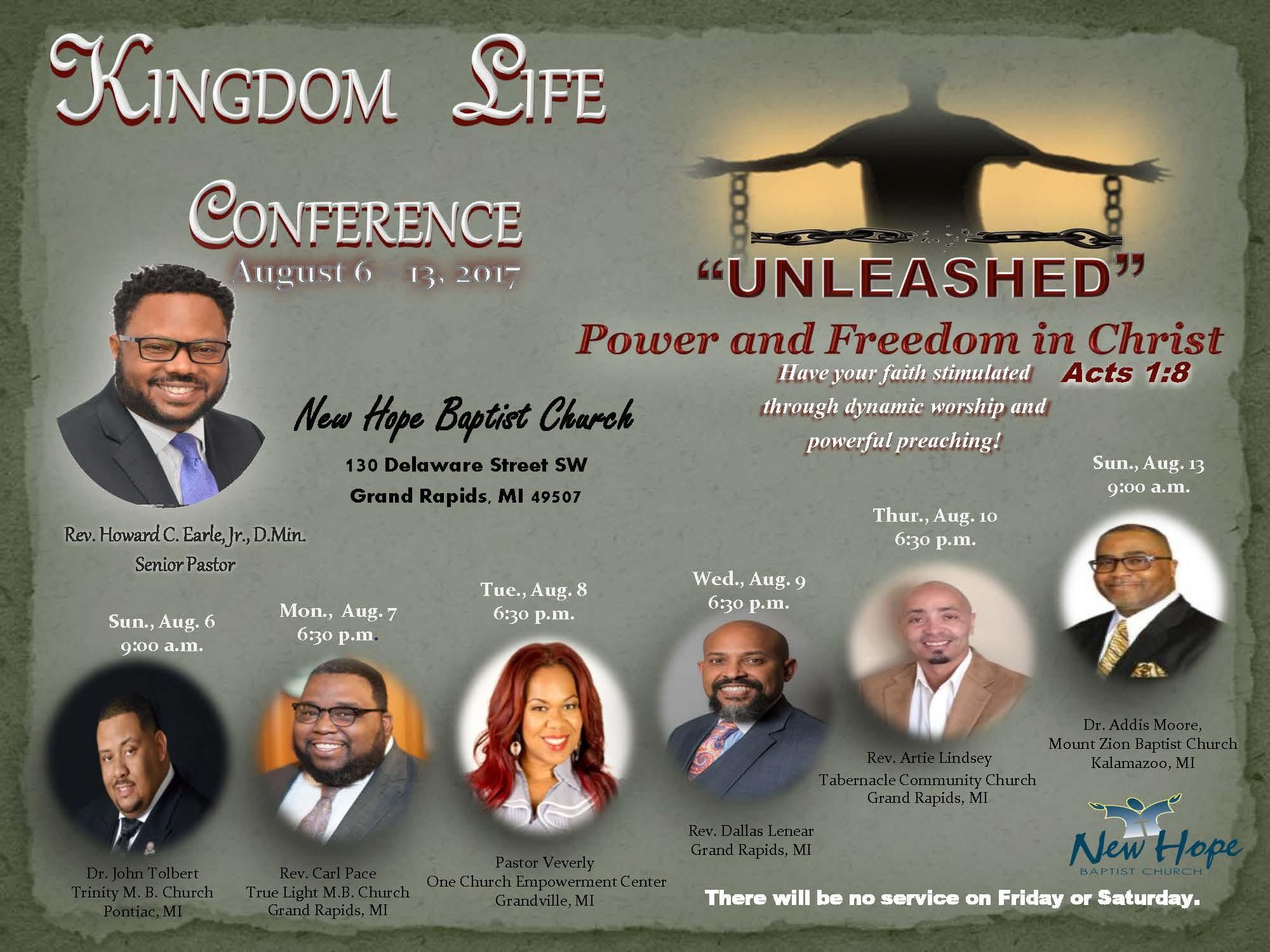 Kingdom Life conference flyer