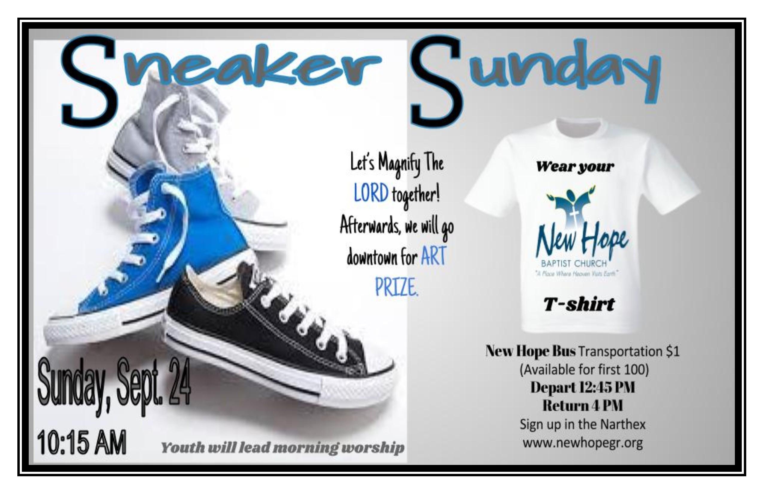 Sneaker Sunday Flyer